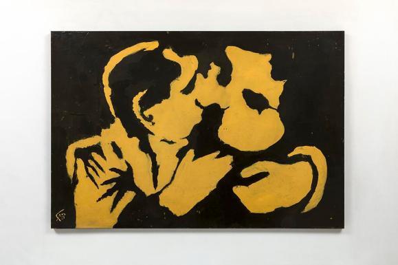 Geraldo-de-Barros-They-are-kissing-negativo-1964-77-x-110-cm-pintura-a-óleo-e-colagem-sobre-aglomerado-Foto-Everton-Ballardin-Copy